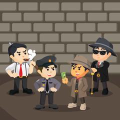 mafia bribing police to work with