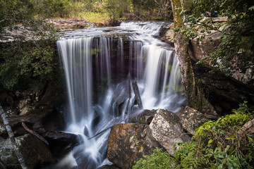 Pen Pob Mai Waterfall in Phu Kradueng National Park of Loei province of Thailand.
