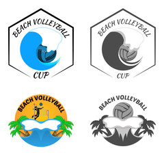 Beach Volleyball logo for the team and the cup