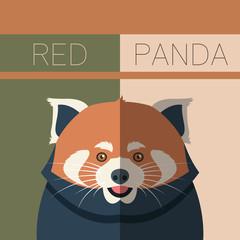 Red Panda flat postcard