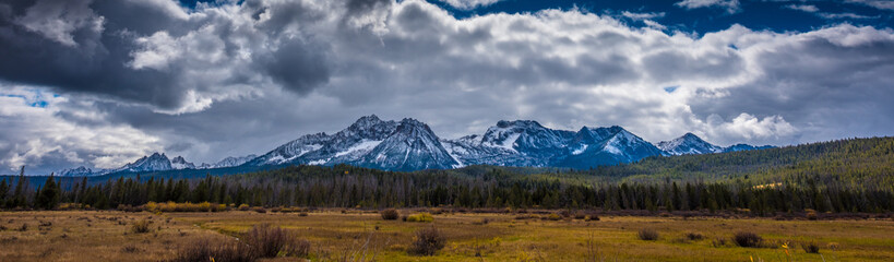 Beautiful Idaho Landscape Sawtooth Range