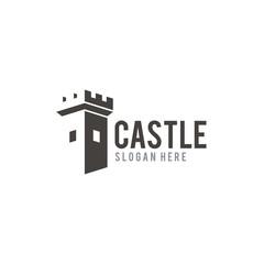 Castle creative logo design vector
