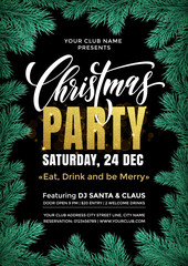 Vector banner template for Christmas Party