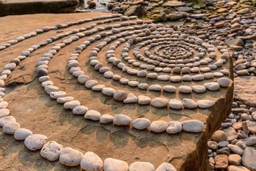 Circles on boulder