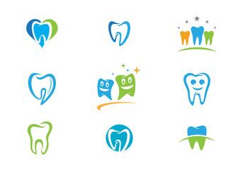 Dental logo template icon