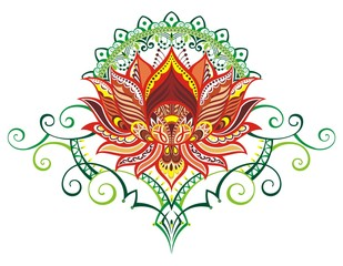Vector ornamental Lotus flower