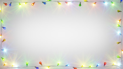christmas light bulbs frame