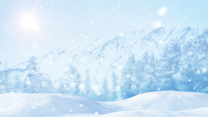 christmas landscape abstract background