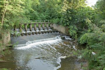 Weir overflow water