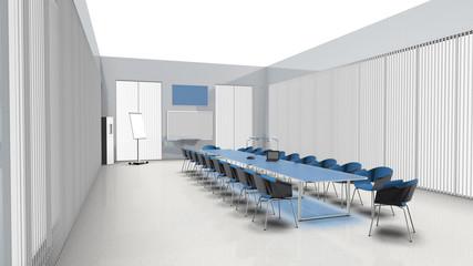 Moderner heller großer Besprechungsraum mit Glasfronten