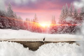 snow desk and landscape