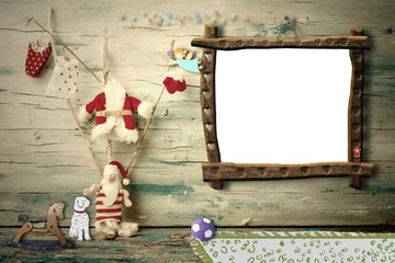 Cheerful Christmas Santa Claus photo frame