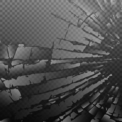 Abstract broken glass background. Vector illustration