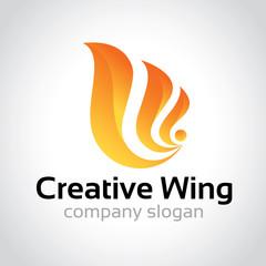 Creative wing logo, wing logo design