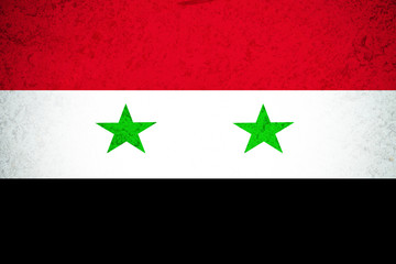 Syria flag ,3D Syria national flag illustration symbol.