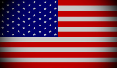 American flag ,3D USA national flag illustration symbol.
