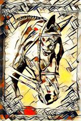 Original oil painting of a fine arabian horse