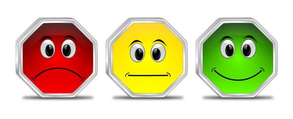 Voting Buttons - 3D illustration