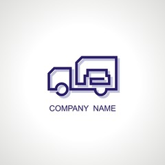 Vector logo for shipping company. Modern Icon and sign design. Vector Illustration.