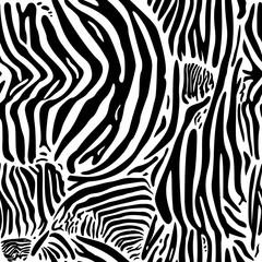 Zebra print pattern.