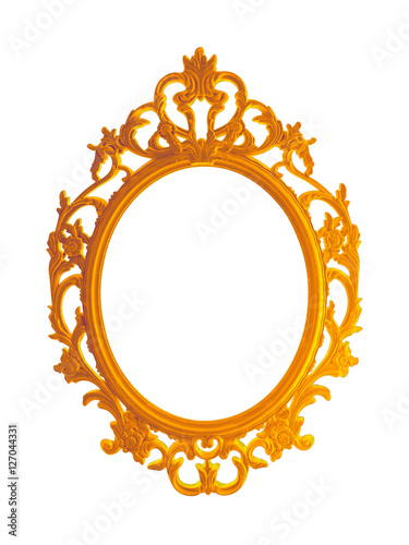 Beautiful vintage gilded photo frame or mirror isolated for Espejo marco dorado