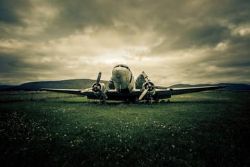 war plane wreck