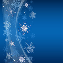 Snowflakes graphic blue white abstract background illustration vector