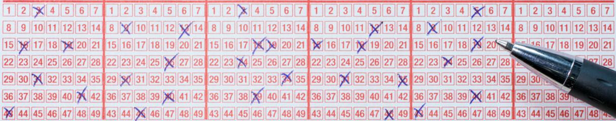 Hoffen auf den Jackpot durch Lotto spielen