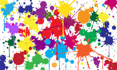 Abstract background of colored blots.Vector