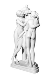 Statues of three naked girls