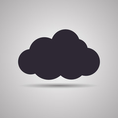 Векторная иллюстрация иконка простой символ плоский для веб силуэт шаблон Cloud Облако облачко