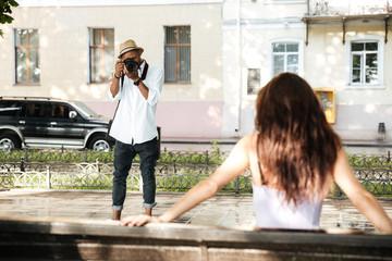 Pretty photo session in park
