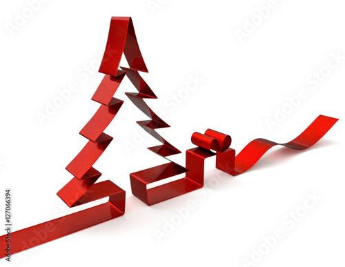 3d schleife geschenkband weihnachtsbaum mit. Black Bedroom Furniture Sets. Home Design Ideas