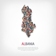 people map country Albania vector