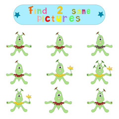 "Children's logical educational educational game ""Find 2 same ima"