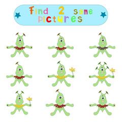 "Children's logical educational educational game ""Find 2 same ima"
