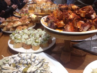 A delicious selection of pintxos