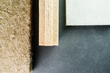 thermal insulating hemp fiber panels - building insulation material