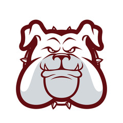 Bulldog head mascot