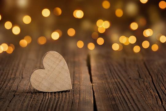 Valentinstag Herz mit Bokeh