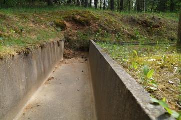 бетонный жёлоб системы ливневой канализации