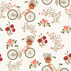 Spring floral seamless pattern