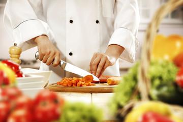 cook in kitchen
