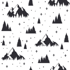 Travel seamless pattern in doodle style