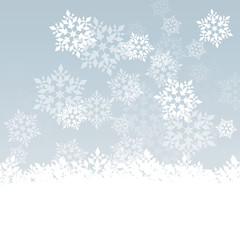 Snowflake vector background abstract winter