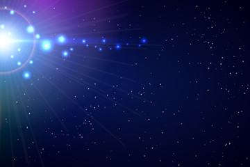 Vector Flash Light Background