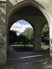 Gothic Arch Loggia in park setting