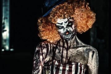 frightening clown