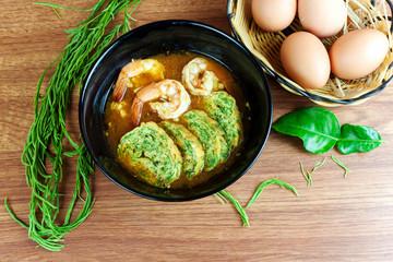 sour soup curry with shrimps