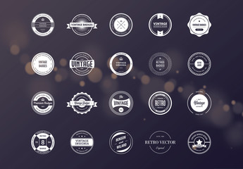 20 Retro Badge Label Layouts 4